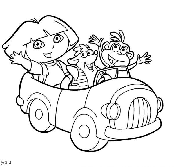 Dora And Friends Into The City Coloring Pages 2015-2016 ...