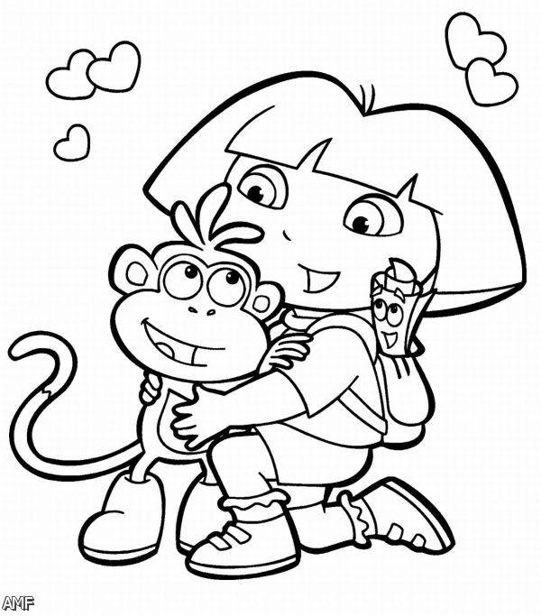 dora and friends coloring pages - photo#33