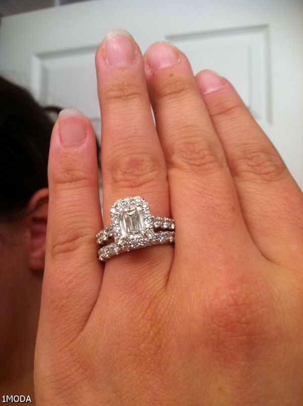 Emerald Cut Engagement Ring On Hand Shopping Guide We