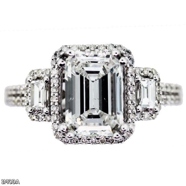 Emerald Cut Halo Engagement Rings 2015 2016