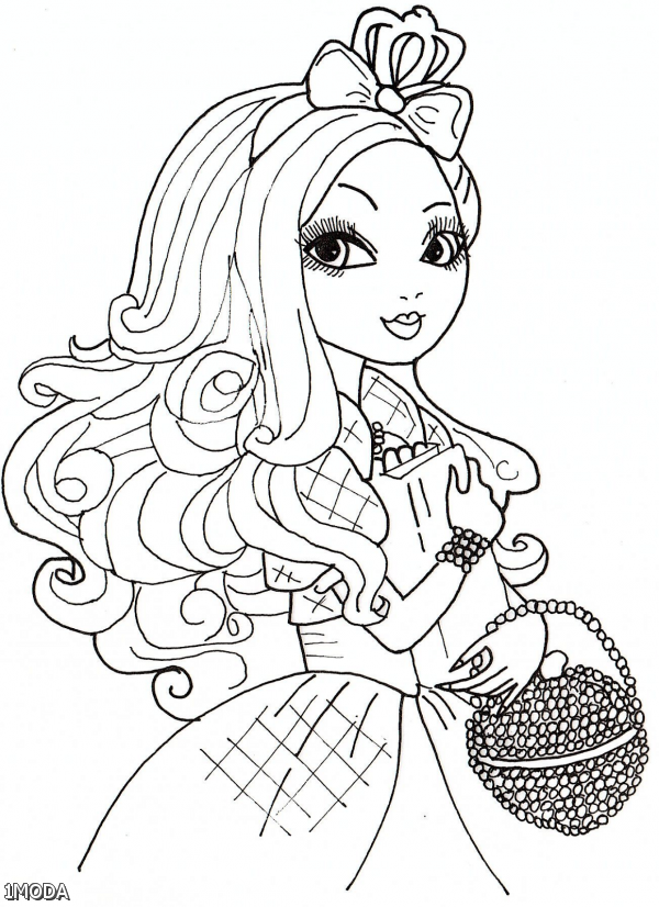 ever after high coloring pages briar beauty and apple