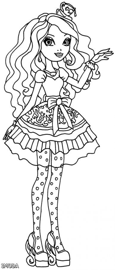 Ever after high coloring pages madeline hatter 2015 2016 for Madeline coloring pages printable
