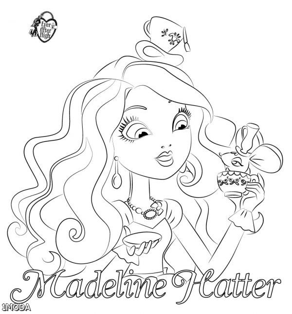 Free Ever After High Madaline Coloring Pages