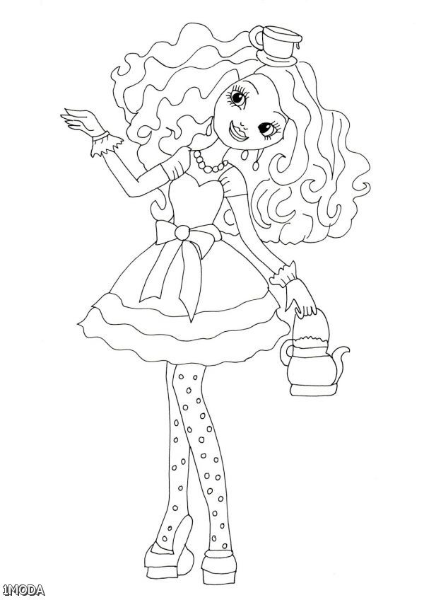 free ever after high coloring pages | Ever After High Coloring Pages Madeline Hatter | Shopping ...