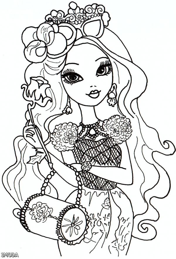 Ever after high coloring pages raven 2015 2016 fashion for Ever after coloring pages