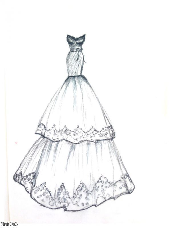 fashion design drawings dresses