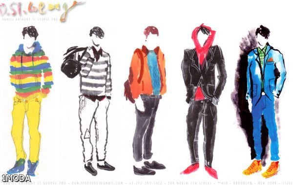 fashion designers sketches men 20152016 fashion trends