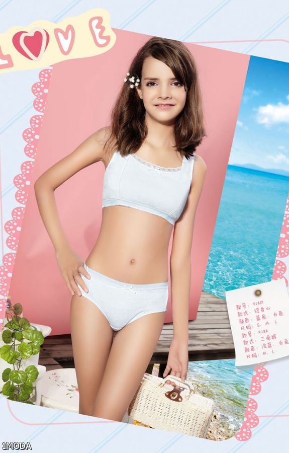 Relaxed Shipping! Girls' Cotton Unalloyed Crop Tops. Training Bras ...