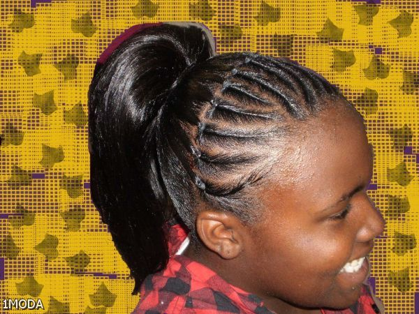 French Braid Ponytail Hairstyles For Black Women