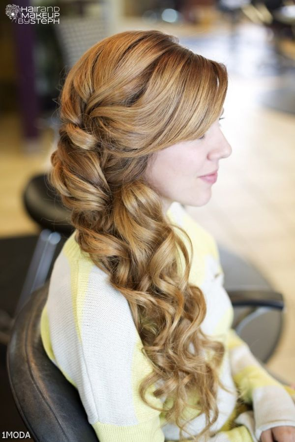 French Braid With Curls To Side 2015-2016 | Fashion Trends ...