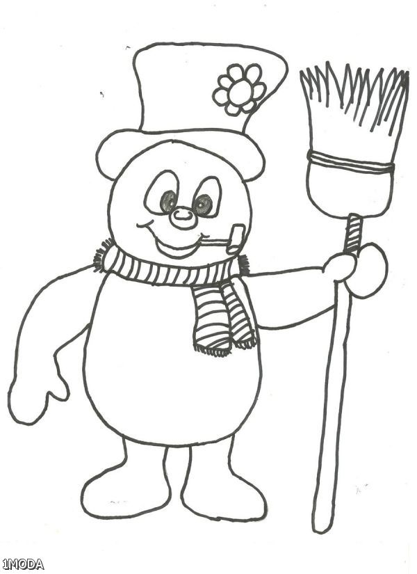 how to draw a cute and easy snowman