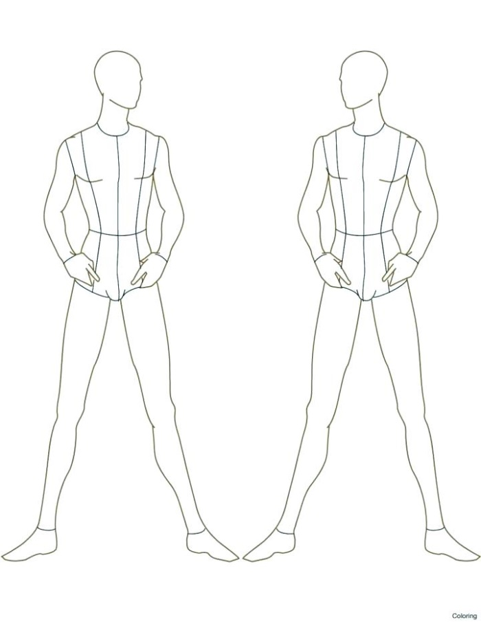 Fashion Outline Male Fashion Template