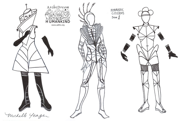 Futuristic Fashion Sketches