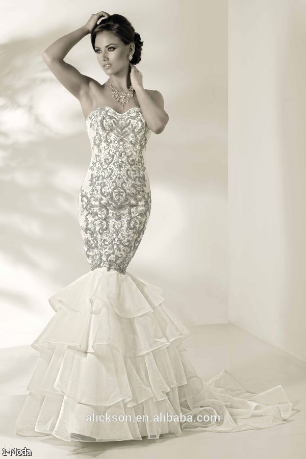 Mermaid Wedding Dresses With Diamonds : Fancy mermaid wedding dresses fashion trends