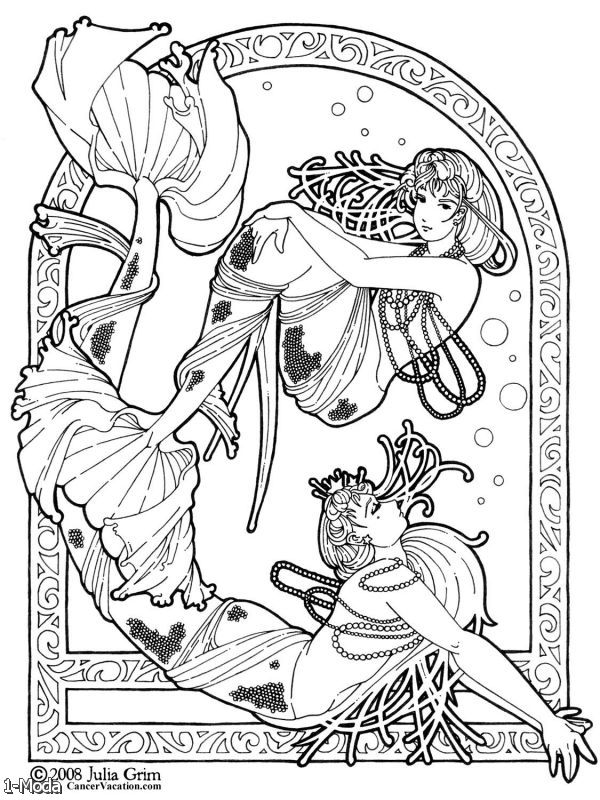fantasy coloring pages online - photo#18