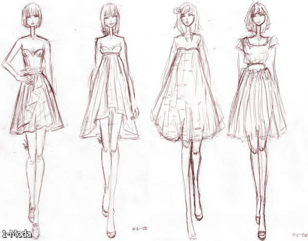 How To Sketch Fashion Designs For Beginners Fashion Design Sketches Of