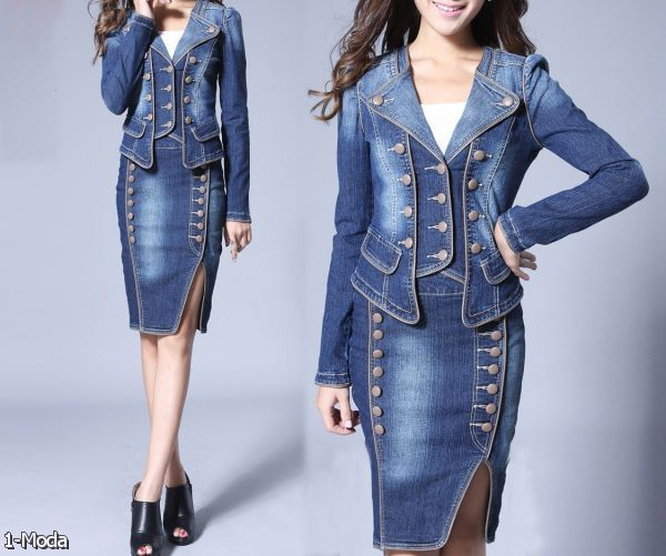 Wonderful Navy Collarless Coat Can Be Worn With Your Special Event Essentials