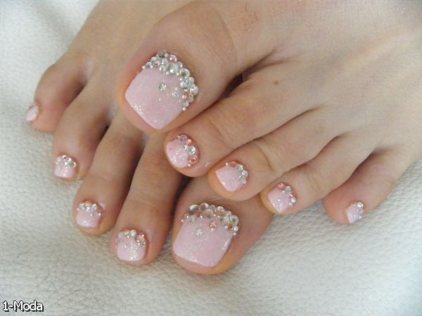 french toe nails with diamonds 20152016 fashion trends