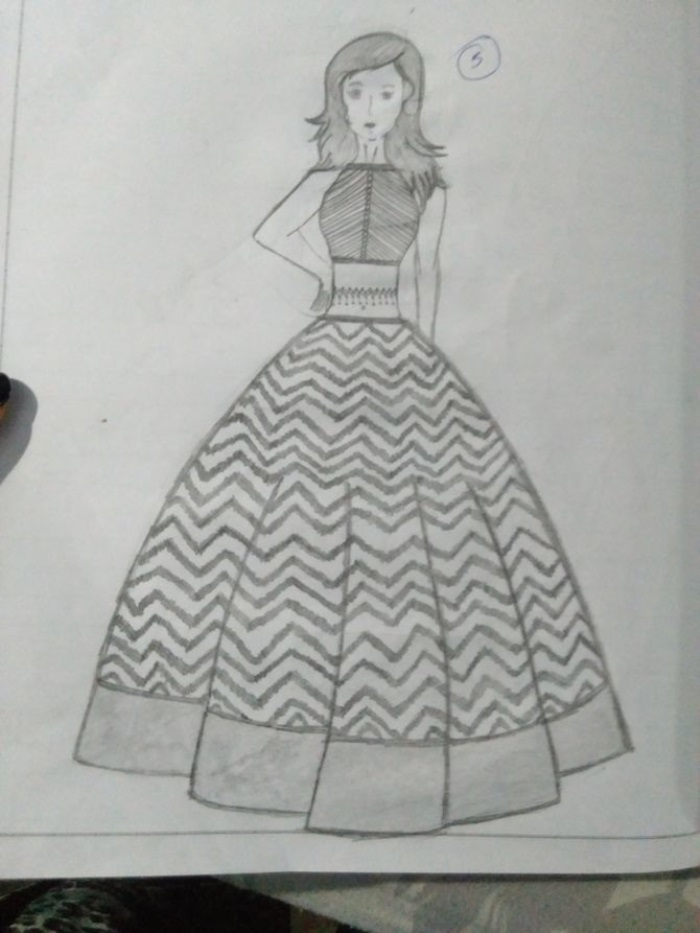 20 Latest Easy Fashion Dress Drawings
