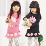 Купить_New_Arrival_2014_Autumn_amp;Winter_Baby_Girls_Clothing_Set_Sunflower_Long-Sleeve_T-shirt+Pantski