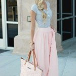 Blush_Maxi_Skirt._._Great_for_spring__._Get_student_discounts_on_your_favorite_fashion_brands_We_Heart_It_fashion,_skirt,_and_ou