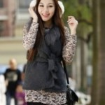 Buy_Korean_Style_Winter_Weskit_with_Belt_Deep_Grey_with_cheapest_price_Clothing-Dropship.com
