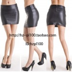 Fashion_classic_design_faux_leather_sexy_high_waist_shorts_tight_black_dull_short_mini_skirts_for_women_-_за_1_шт