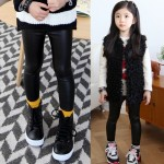 Free_Shipping_Kids_Girls_Winter_Clothes_New_Korean_Version_Of_Big_Long_Thick_Leather_Children_Pencil_Pants__