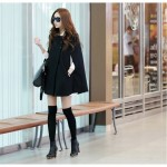 Image_3_of_Popular_Korean_Style_Cloak_Design_Pure_Woolen_Female_Top_Black_S_-_Tmart.ru