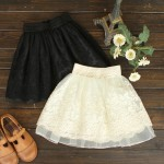 Korean_Style_Girls_Ladies_Waist_Bubble_Tutu_Floral_Lace_Tulle_Mini_Skirt_Pricess_eBay