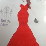 My_drawing_of_Nina_Dobrev__39;s_red_dress_-_Fashion_Влюбленные_Фан_Art_(32011890)_-_Fanpop