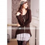 New_Korea_Style_Knit_Flower_Women_Dress__