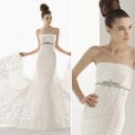 Stunning_Macramé_wedding_dress_with_jeweled_sash_under_bust_OneWed.com_плетение_макраме_Постила