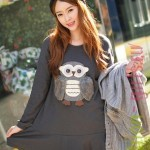 Winter_Korean_style_bottoming_skirt_owl_patch_maternity_CD05193_-_CloClothing.com