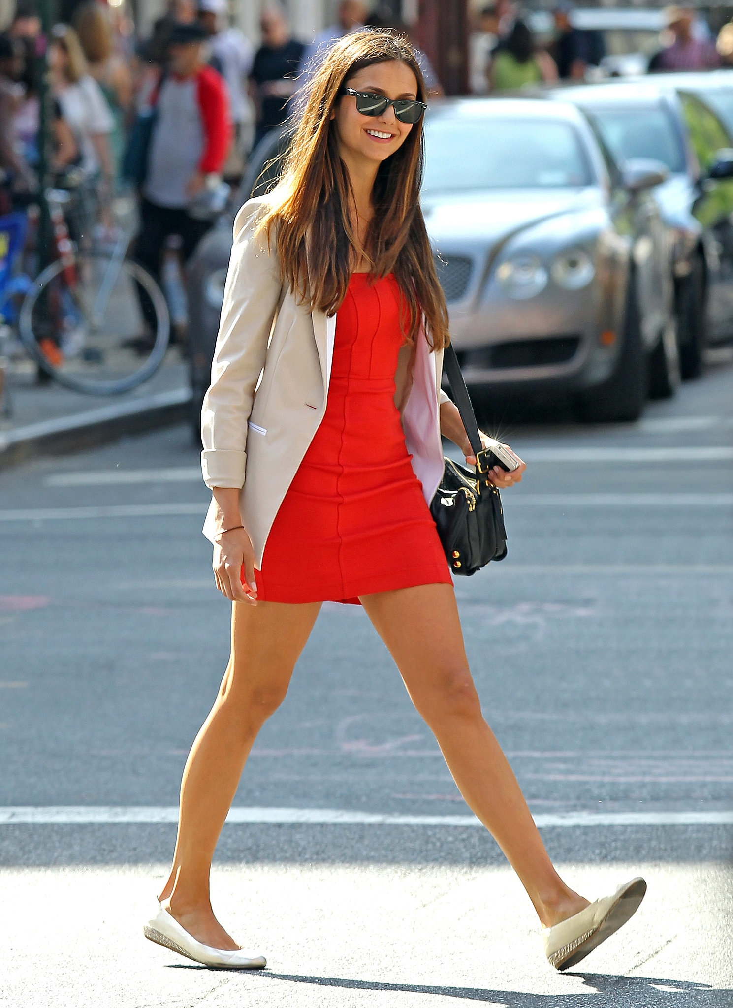 Nina Dobrev Street Style Looks Review Shopping Guide We