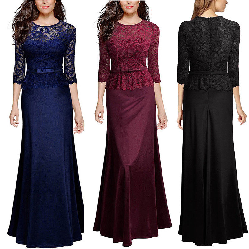 c8826b45 Dress Gallery: Great Women Formal Wedding Bridesmaid Evening Party Ball  Prom Gown Long Cocktail Dress 2018-2019