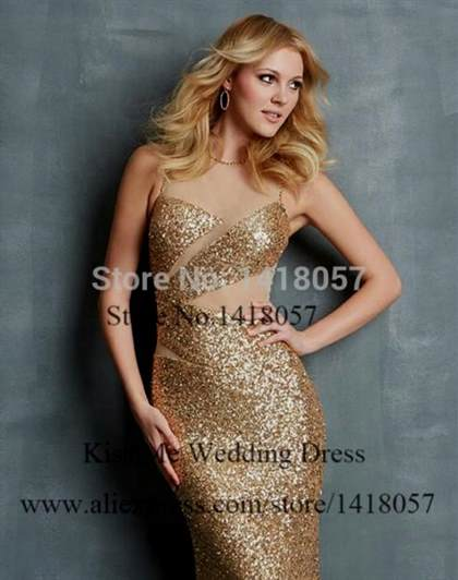 black and gold prom dress