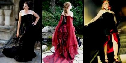 black and red corset wedding dresses