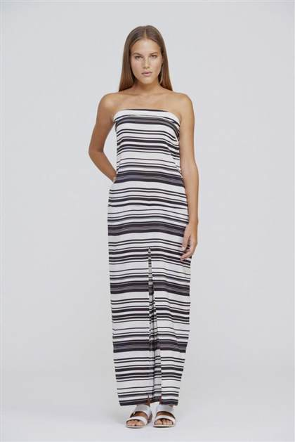 black and white striped maxi dress bebe