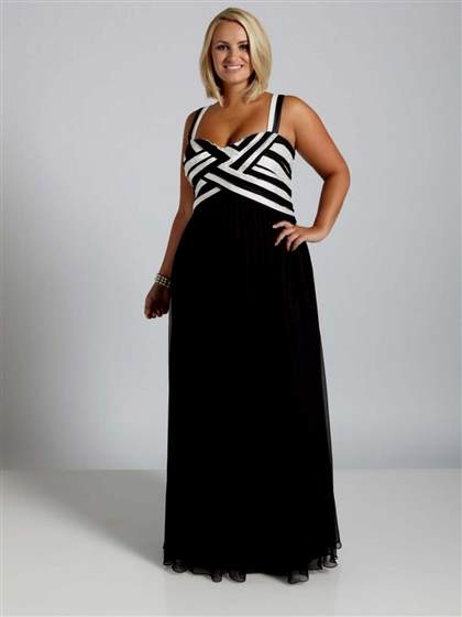 black formal dresses plus size