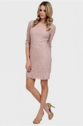 blush lace dress with sleeves
