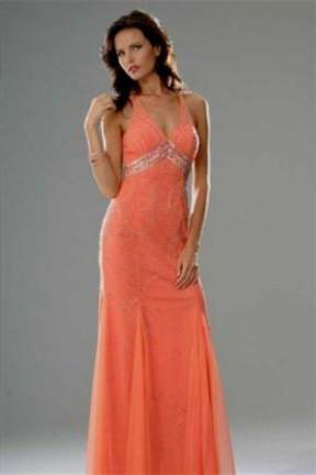bright salmon quinceanera dresses