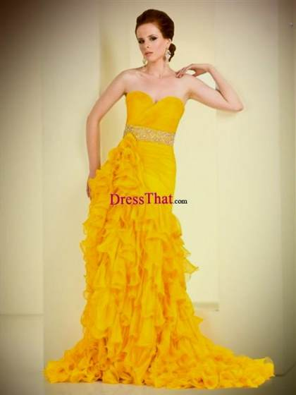 bright yellow homecoming dresses