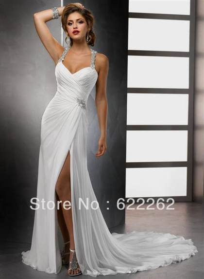 casual halter wedding dresses