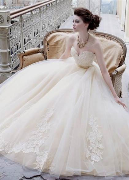 champagne ball gown wedding dresses