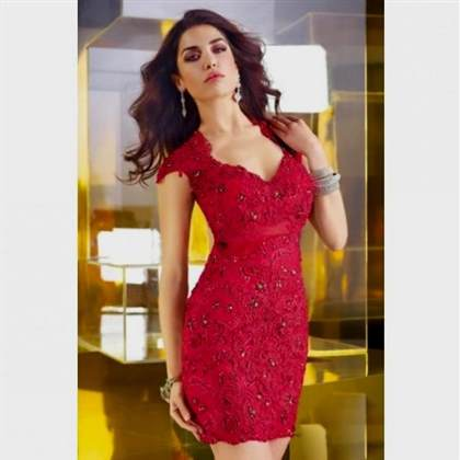 cute red prom dresses with sleeves