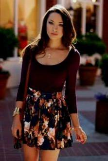 floral skater dress outfit ideas