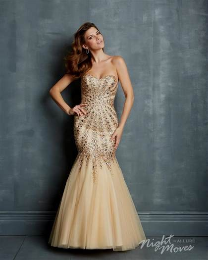 gold sparkly mermaid prom dress