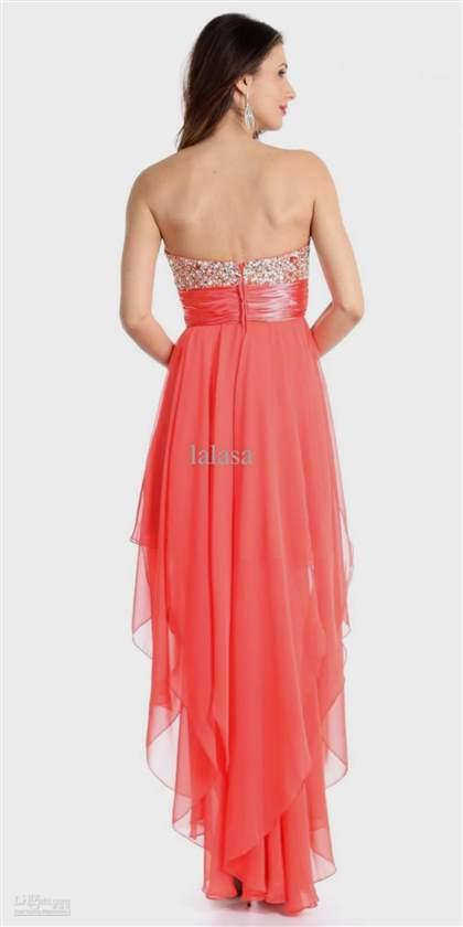 high low dresses casual coral