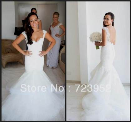 lace backless mermaid wedding dresses